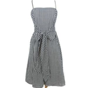 New York & Company Gingham Fit & Flare Dress, 0